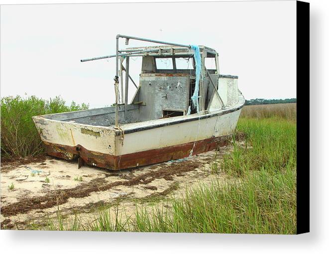 Boat Canvas Print featuring the photograph Island Boat by Debbie May