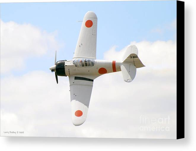 Airplanes Canvas Print featuring the photograph Japanese Zero by Larry Keahey