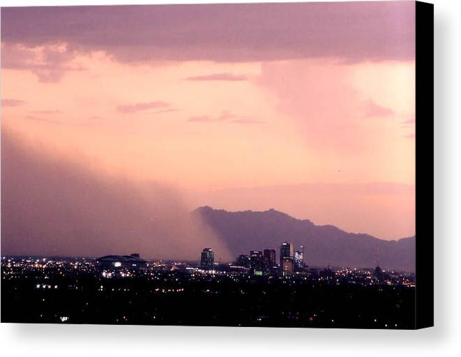 Arizona Canvas Print featuring the photograph July Dust by Cathy Franklin
