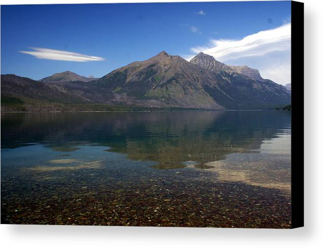 Landscape Canvas Print featuring the photograph Lake Mcdonald Reflection Glacier National Park 2 by Marty Koch