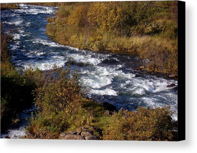 River Canvas Print featuring the photograph Late September by Marilynne Bull