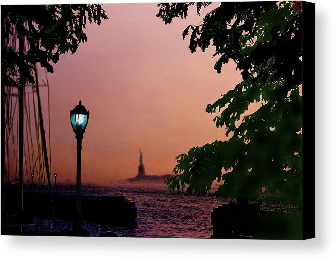 Seascape Canvas Print featuring the digital art Liberty Fading Seascape by Steve Karol
