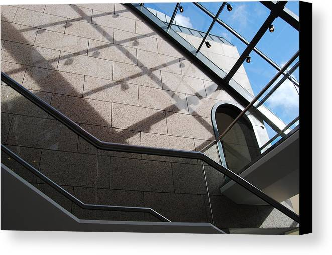 Canvas Print featuring the photograph Lines And Reflections by Marilynne Bull