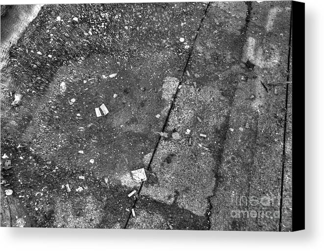 High Dynamic Range Canvas Print featuring the photograph Littered Way by Dorothy Hilde