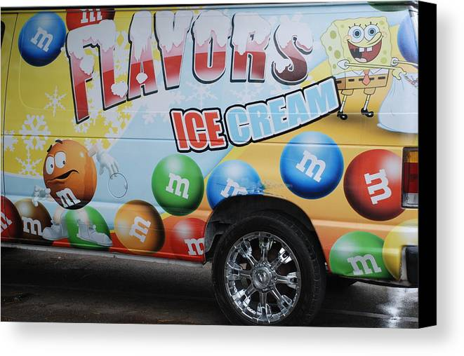 Sponge Bob Canvas Print featuring the photograph M And M Flavors For The Kids by Rob Hans