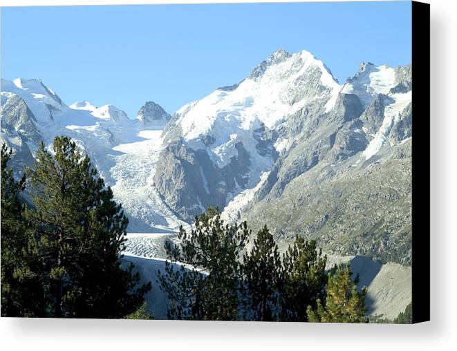 Switzerland Canvas Print featuring the photograph Magnificent Swiss Glacier by Charles Ridgway