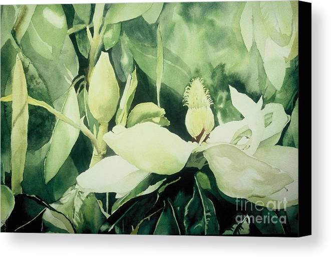 Magnolias Canvas Print featuring the painting Magnolium Opus by Elizabeth Carr