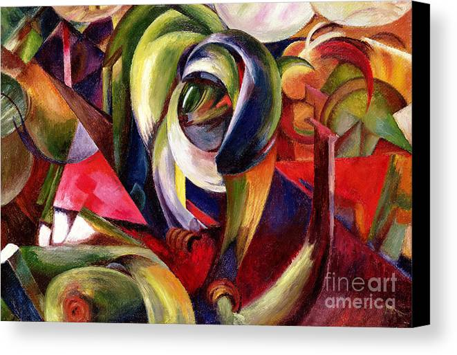 Mandrill Canvas Print featuring the painting Mandrill by Franz Marc