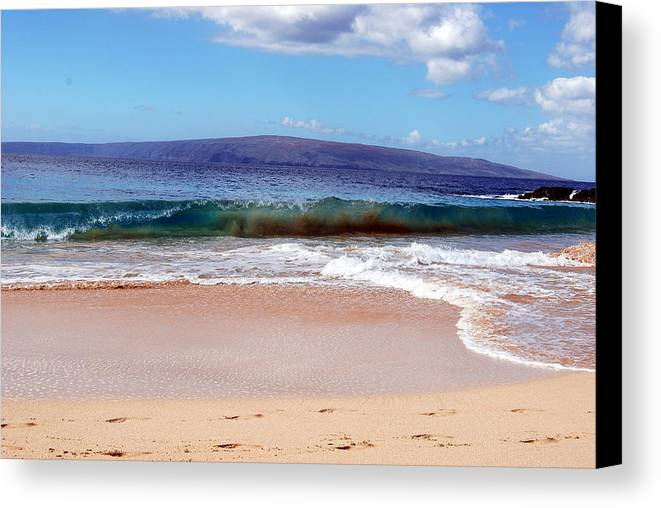 Canvas Print featuring the photograph Maui Water by JK Photography