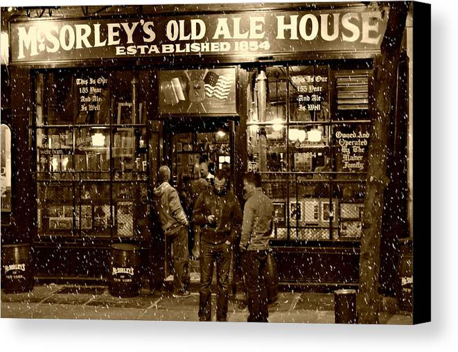 Mcsorley's Old Ale House Canvas Print featuring the photograph Mcsorley's Old Ale House by Randy Aveille