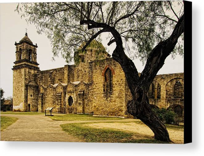 Mission Canvas Print featuring the photograph Mission San Jose by Iris Greenwell