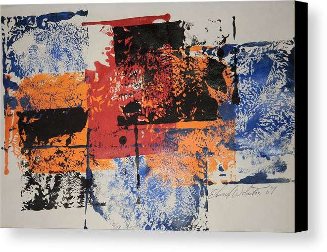 Abstract Canvas Print featuring the painting Monopoly by Edward Wolverton