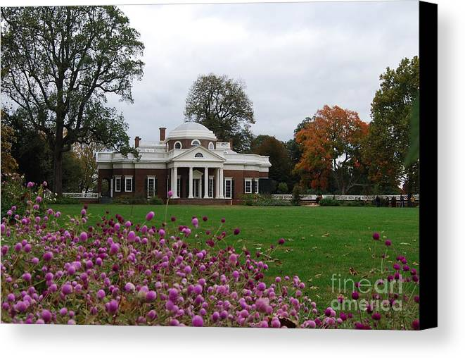 Fall Canvas Print featuring the photograph Monticello by Eric Liller