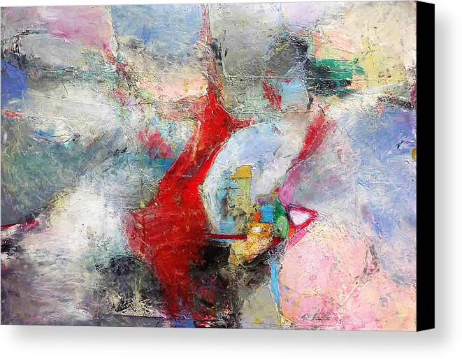 Abstract Expressionist Canvas Print featuring the painting More Joy Everyday by Cheryl Johnson ARTIST