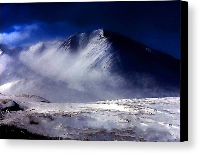Mountain Canvas Print featuring the photograph Mountain Of Alaska by Galeria Trompiz