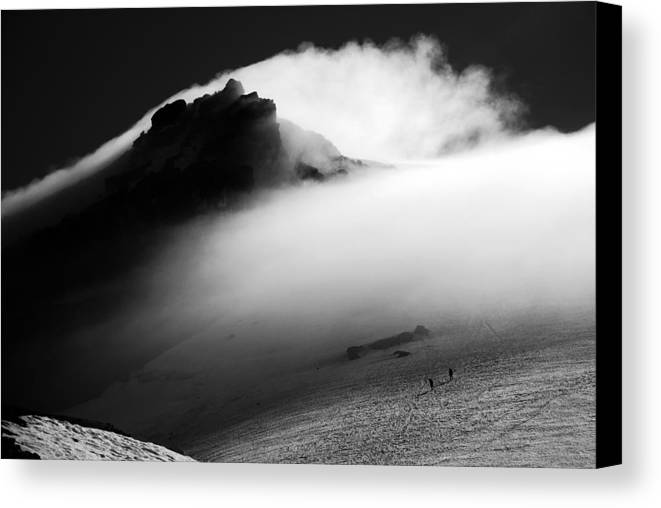 Mount Canvas Print featuring the photograph Mt. Baker Storm by Alasdair Turner