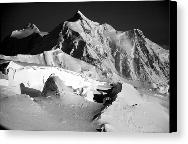 Mt. Hunter Canvas Print featuring the photograph Mt. Hunter Sunset by Alasdair Turner