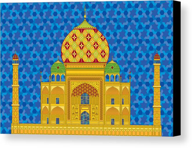 Taj Mahal Canvas Print featuring the digital art My Taj Mahal by Vlasta Smola