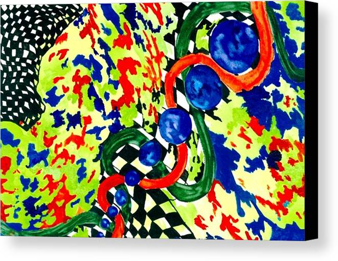 Abstract Canvas Print featuring the painting Nascar by Katina Cote