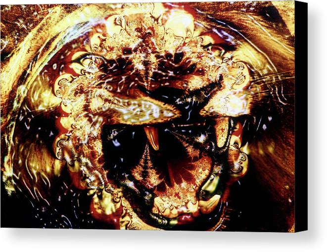 Lion Canvas Print featuring the photograph Natural Power by Johnny Aguirre