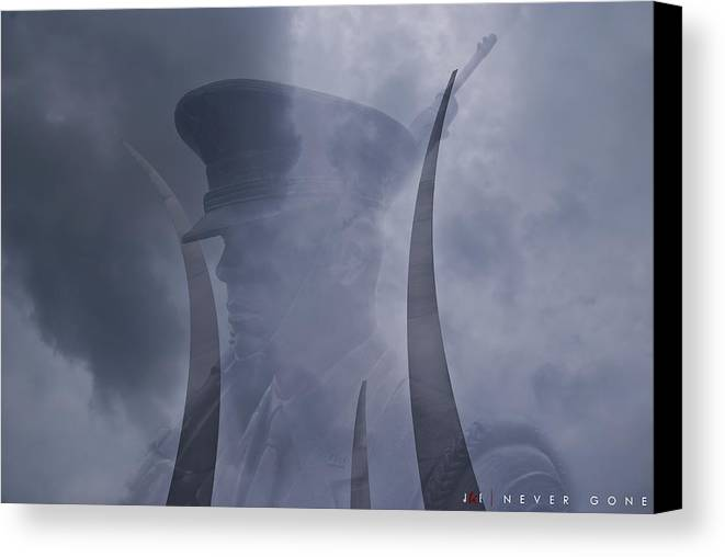Air Force Canvas Print featuring the photograph Never Gone by Jonathan Ellis Keys