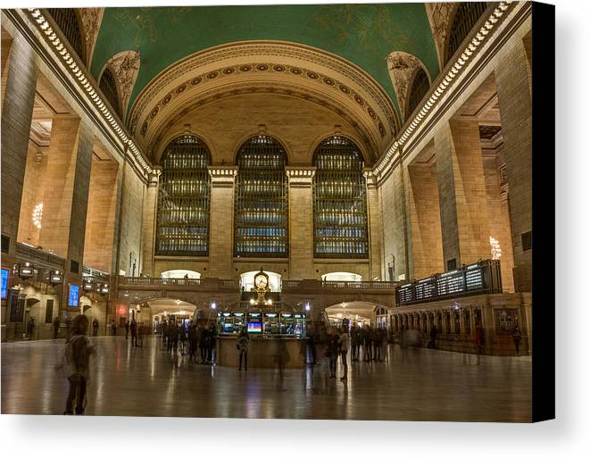 Urban Canvas Print featuring the photograph Nighthawks At The Station by Kenneth Laurence Neal