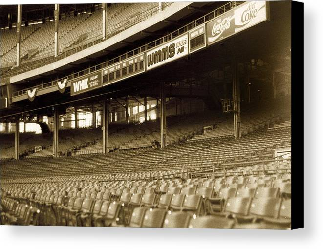 Cleveland Canvas Print featuring the photograph Nobodys Home by Kenneth Krolikowski