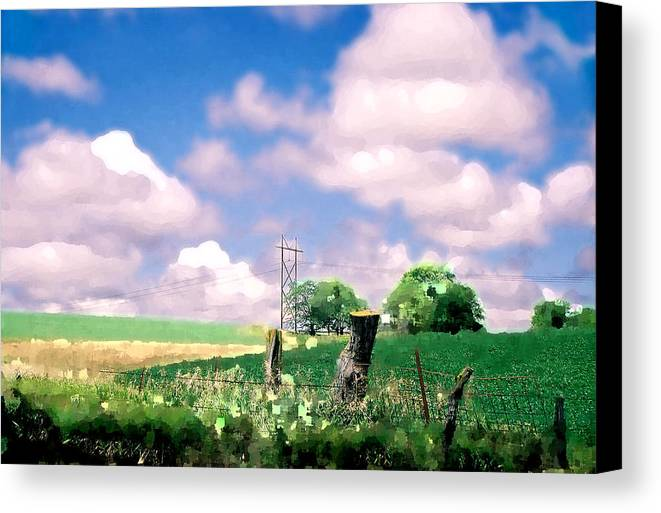 Landscape Canvas Print featuring the photograph Off The Grid by Steve Karol