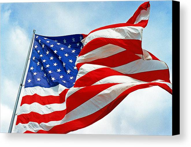 Old Glory Canvas Print featuring the photograph Old Glory by Paul Trunk