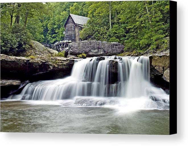 Glade Creek Canvas Print featuring the photograph Old Grist Mill In Babcock State Park West Virginia by Brendan Reals