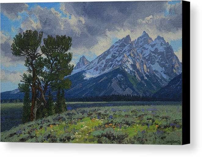 Landscape Canvas Print featuring the painting Old Patriarch by Lanny Grant
