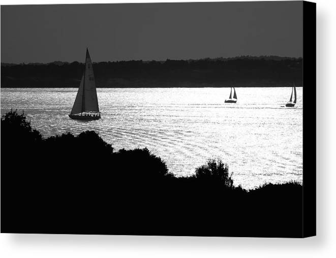 Beach Canvas Print featuring the photograph On The Bay by Mark Wiley