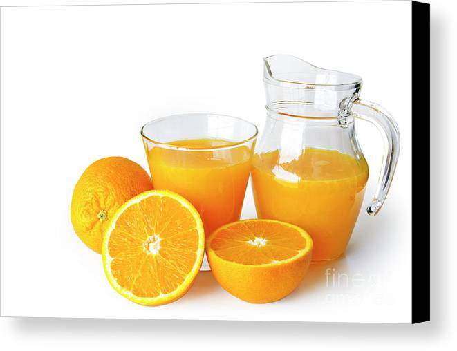 Agriculture Canvas Print featuring the photograph Orange Juice by Carlos Caetano