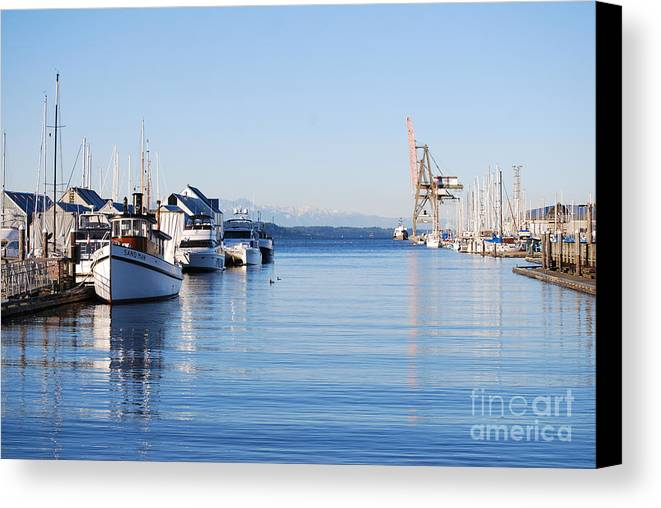 Olympia Canvas Print featuring the photograph Percival Landing by Larry Keahey