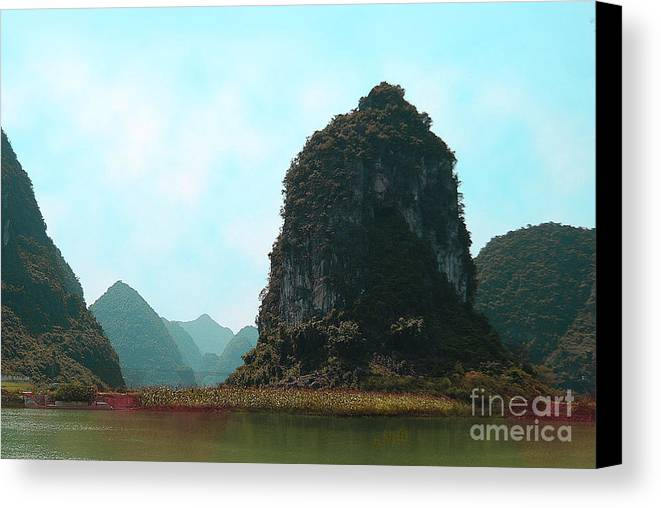 Landscape Canvas Print featuring the photograph Pinnacle by Dot Xie