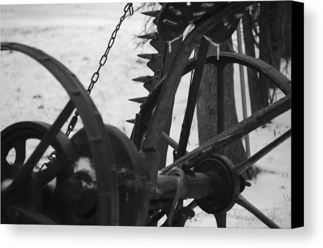 Machinery Canvas Print featuring the photograph Plow by Peter McIntosh