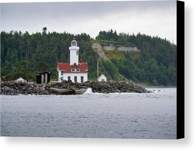Lighthouse Canvas Print featuring the photograph Point Wilson Lighthouse by Chad Davis