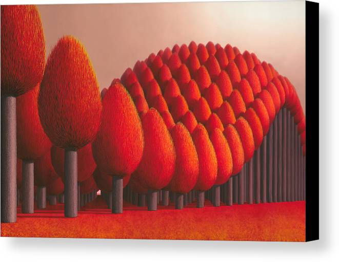 Tree Canvas Print featuring the painting Populus Flucta by Patricia Van Lubeck