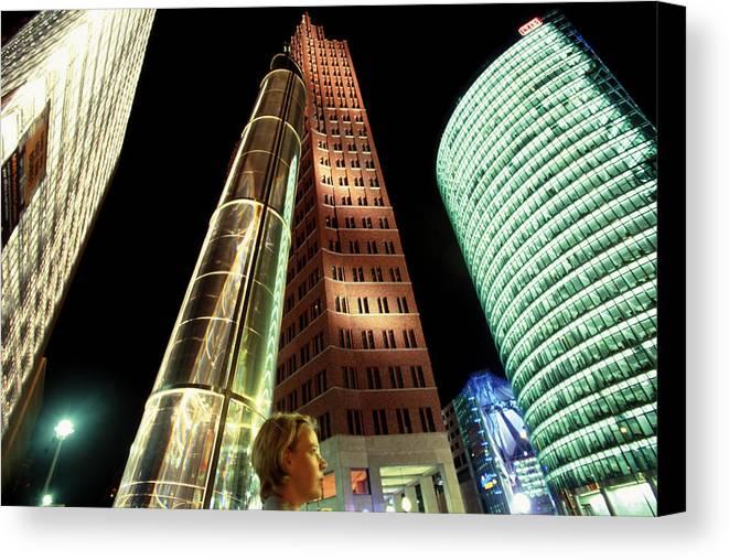 Berlin Canvas Print featuring the photograph Potsdamer Platz Berlin by Brad Rickerby