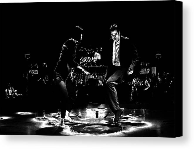 Pulp Fiction Thermal Dance Canvas Print / Canvas Art by Brian Reaves