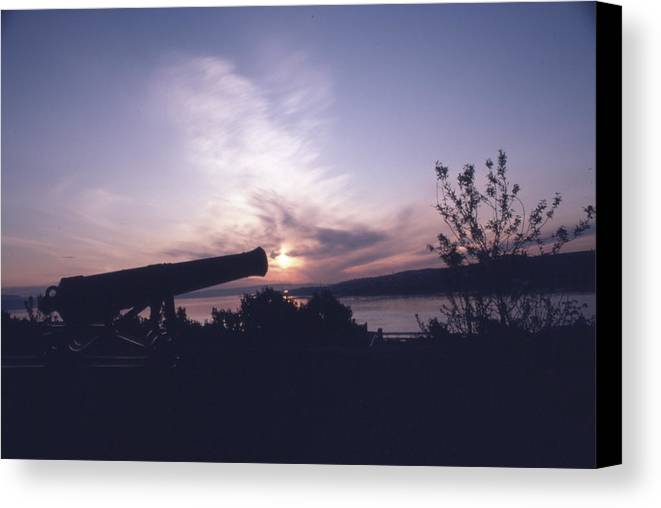 Photo Decor Canvas Print featuring the photograph Putting Up The Sun by Steven Huszar