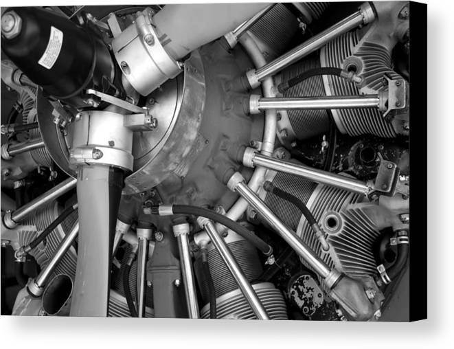 Aircraft Canvas Print featuring the photograph Radial Engine by Alasdair Turner