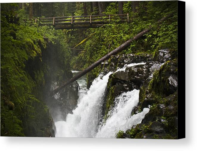 Water Canvas Print featuring the photograph Raging Water Fall by Chad Davis