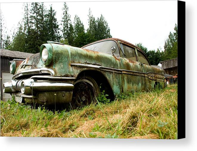 Pontiac Canvas Print featuring the photograph Re-tired by Jennifer Owen