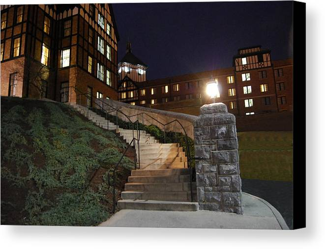 Steps Canvas Print featuring the photograph Roanoke Steps by Eric Liller