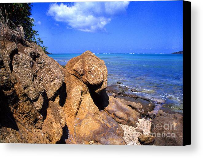 Puerto Rico Canvas Print featuring the photograph Rocky Shoreline by Thomas R Fletcher