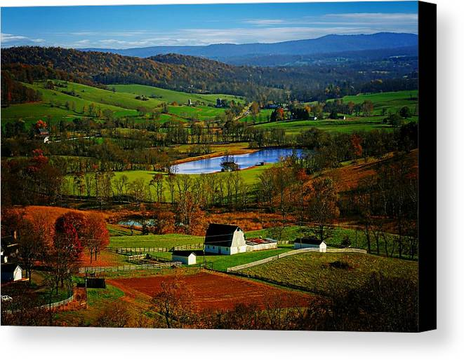 Rolling Canvas Print featuring the photograph Rolling Countryside by Dawn Van Doorn