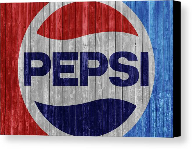 Rustic Pepsi Logo Canvas Print Featuring The Mixed Media By Dan Sproul