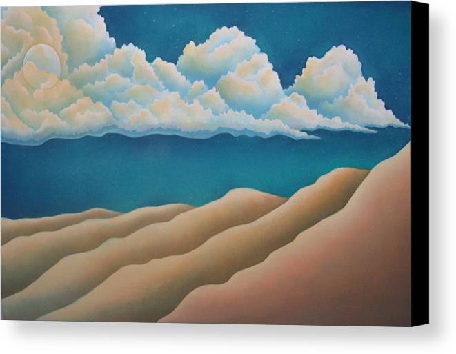 Landscape Canvas Print featuring the painting Sacred Night by Jeniffer Stapher-Thomas