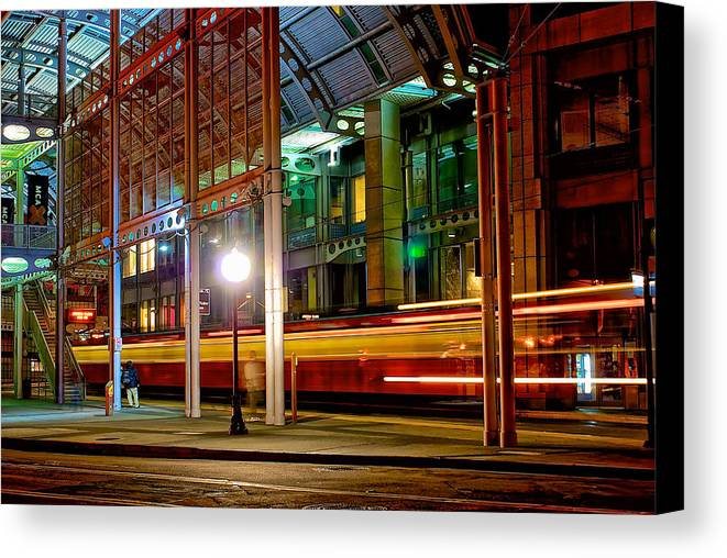Building Canvas Print featuring the photograph San Diego Trolley Station by Donald Pash